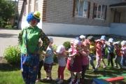 Клоун Клёпа в гостях у ребят.
